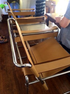 The Wassily chairs. Whoot! What a score!
