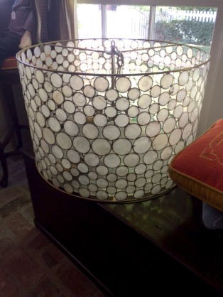 We loved this gorgeous light fixture. Its a great example of the unique things one can find at an estate sale.