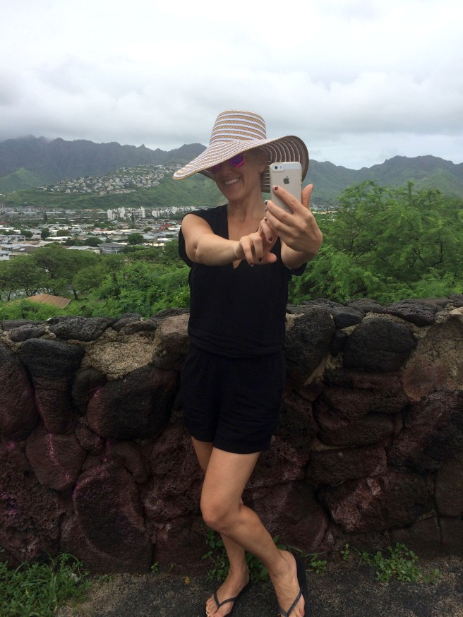 A backdrop of Hawaii Kai, a small town  30min from Waikiki.
