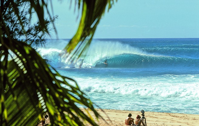 During the winter season Pipeline waves average 15 feet! Photo by http://www.jeffdivinesurf.com