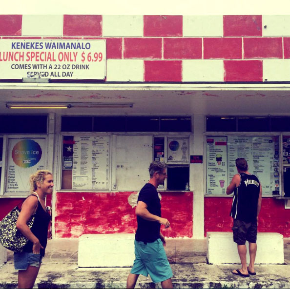 Flashback to 1970, this shack served a perfectly delicious plate lunch. Photo taken by the talented Catherina.