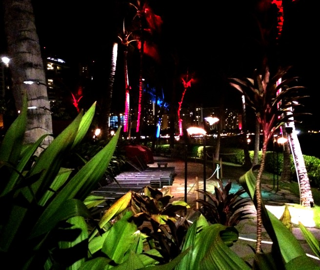 Nightlife in Waikiki.