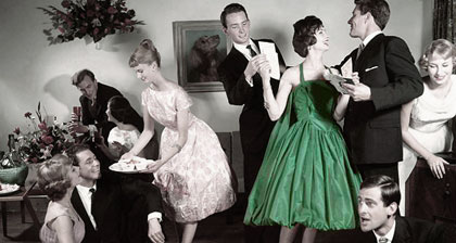What would it be like if the world of going out wasn't so black and white? Photo from www.vintageallies.com