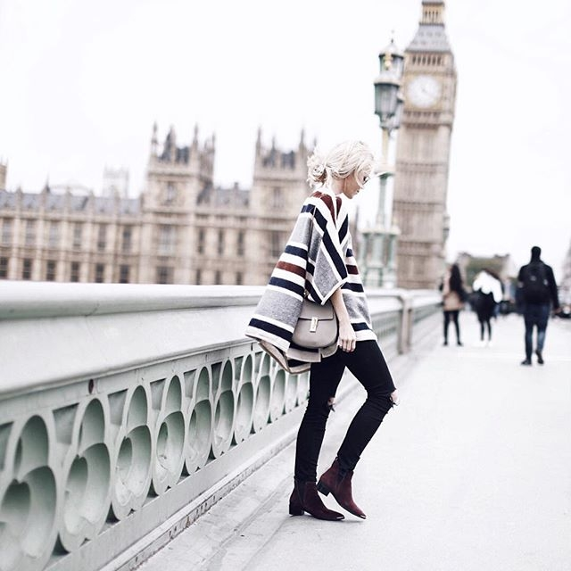 I saw this poncho on Instagram. I just love it for some reason. Maybe its Big Ben in the background, or just the stripes. But it just looks so pretty to me.
