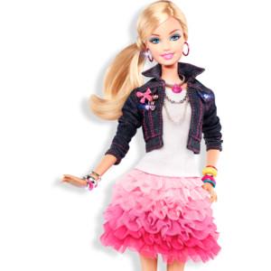 Barbie_RedValentinoSkirtDenimJacket